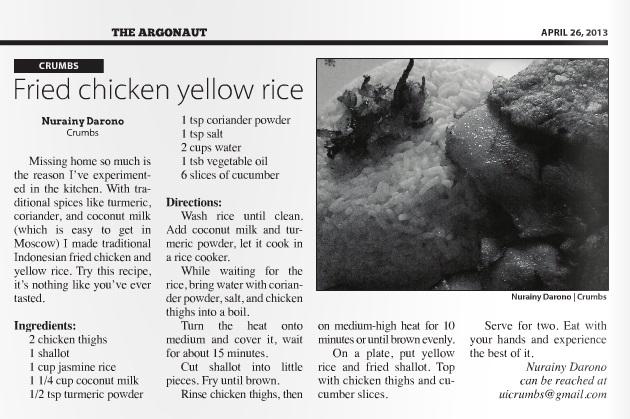 Fried chicken yellow rice | Nurainy Darono