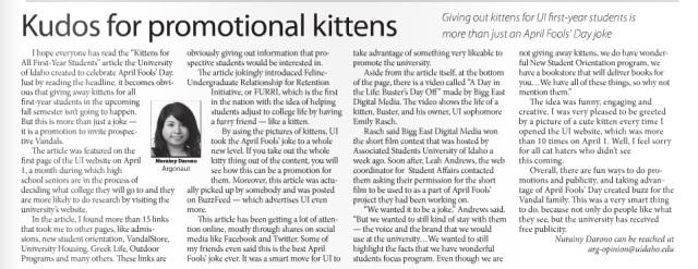 Kudos for promotional kittens | Nurainy Darono