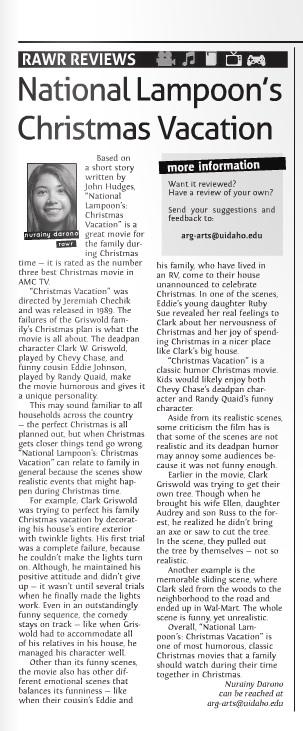 National Lampoon's Christmas Vacation movie review | Nurainy Darono