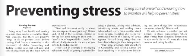 Preventing Stress1