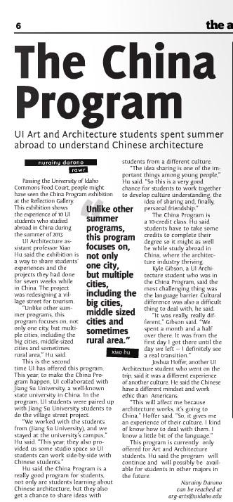 The China program | Nurainy Darono