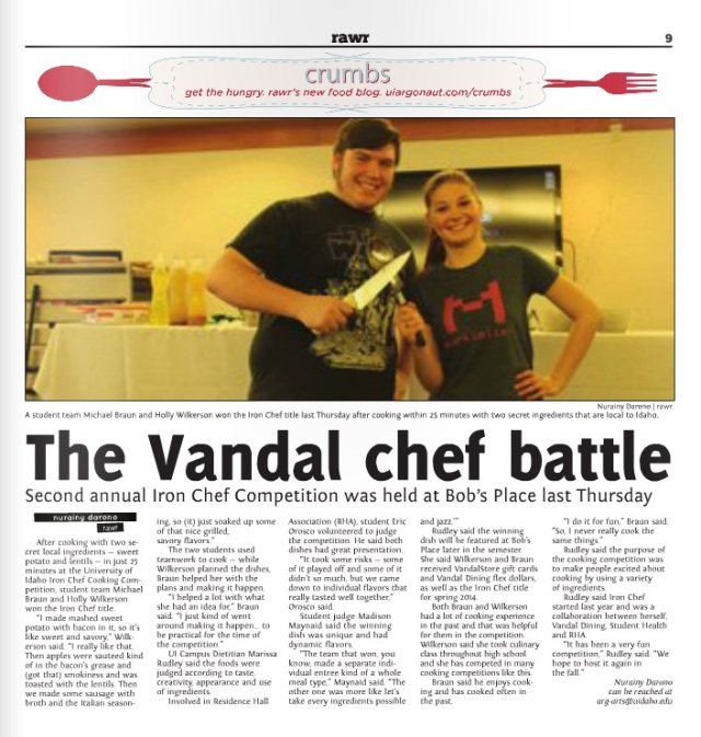 The Vandal chef battle | Nurainy Darono