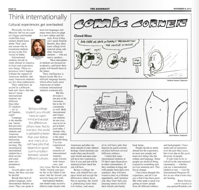 Think internationally | Nurainy Darono