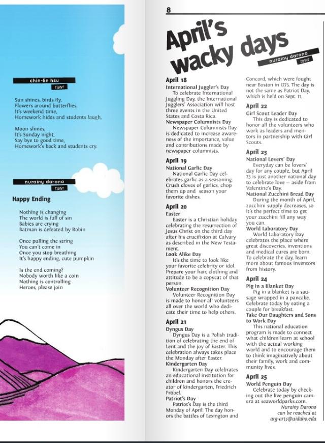 April's wacky days | Nurainy Darono