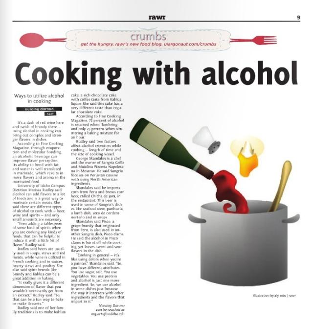 Cooking with alcohol | Nurainy Darono